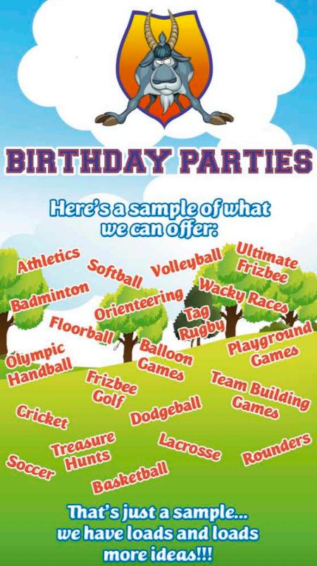 Killorglin sports complex birthday parties